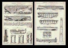 ACQUEDOTTI - ARCHITETTURA IDRAULICA - CASERTA - CROTONE - 1888