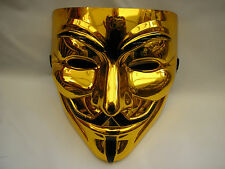 v for vendetta gold halloween strong plastic mask 6