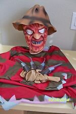 MENS NIGHTMARE ON ELM STREET FREDDY KRUEGER COSTUME SHIRT MASK GLOVE HAT RU16587