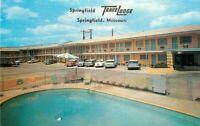 Autos Route 66 Travelodge Springfield Missouri pool Postcard 10276
