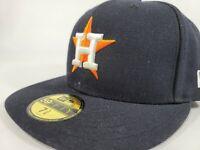 Houston Astros Hat New Era 59Fifty Star Logo USA MLB Baseball Cap Fitted 7 3/8