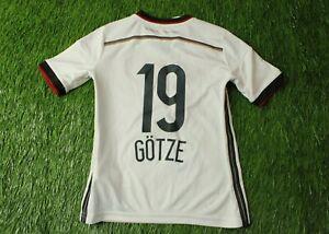 GERMANY TEAM GOTZE 2014/2015 FOOTBALL SHIRT JERSEY ADIDAS HOME ORIGINAL YOUNG S