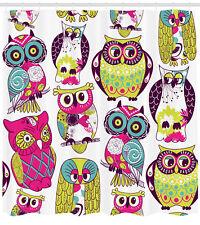 Owl Decor Cute Best Friends Forever Baby Kids Nursery Extra Long Shower Curtain