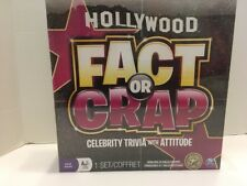 BRAND NEW Hollywood Fact Or Crap Board Game SEALED- Celebrity Trivia W/ Attitude