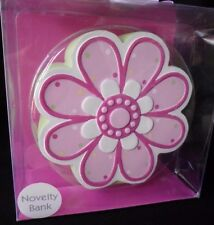 Flower Piggy Bank Baby Girl Novelty Bank First Impressions