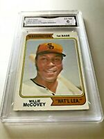WILLY MCCOVEY (HOF) 1974 Topps (Rare Washington Card) #250 GMA Graded 6 EX NM