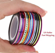 44 Options Color Roll Striping Tape Line Sticker Tips DIY Nail Art Decoration