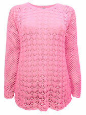 CELLBES CORAL OPEN KNIT SWEATER/JUMPER FREE P&P