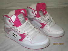 DC Shoe Co - Skateboard Shoe - White w/ Pink - NEW - Size 10 Women's Pro Spec