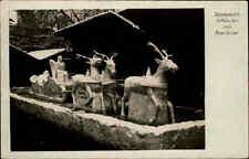 München Bayern s/w Postkarte ~1940 gelaufen Schnee Plastik von Konrad Sailer