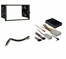 Stereo Radio Double Din Dash Kit with Onstar Wiring Harness Interface pkg
