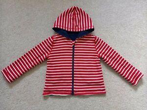 Boys Navy/Red Stripe Reversible Zip-Up Hoodie from JoJo Maman Bebe Age 18-24 Mth