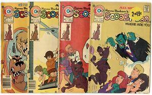 Scooby-Doo #2, 3, 6, 9  avg. VG+ 4.5  Charlton  1975  No Reserve
