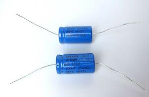 Sprague Atom TVA 1522 100uF 100μF 250V Electrolytic Capacitor - NOS Made In USA