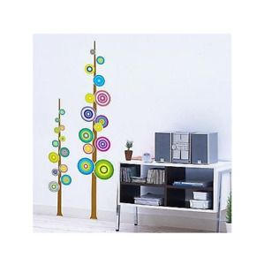 Funky Colourful Tree, Wall Stickers, Peel & Stick, Removable, High Quality PVC