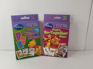 Disney Pooh's Flash Cards Learn Number Match, Go-together Game (36 Cards Each)