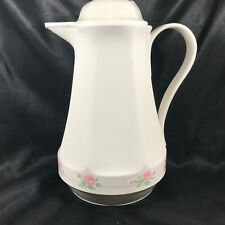 Vintage Thermos Insulated Coffee Carafe Pitcher West Germany Floral Trim No 430