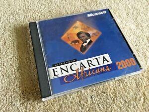 Microsoft Encarta Africana 2000 - Black History, African Heritage - Good!!