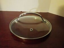 """ORGREENIC GLASS STAINLESS STEEL 7"""" REPLACEMENT POT PAN LID COOK KETTLE COVER"""