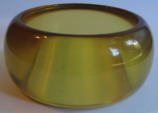 WIDE CHUNKY VINTAGE APPLE JUICE BAKELITE BANGLE BRACELET