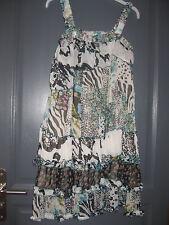 Magnifique robe volantée en voile doublée marque LULU H  Taille L ou 40