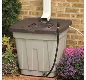 50 Gal Rain Barrel Plastic Container Rainwater Collection Storage Tank Catchment