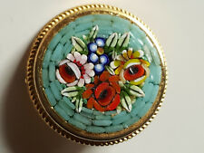 broche vintage en micro Mosaique de verre