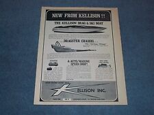 1965 Kellison Inc. Vintage Drag & Ski Boat Ad with Dragster Chassis and Parts