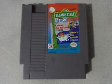 EUC Sesame Street ABC Letter-Go-Round Original Nintendo NES Cart Free Ship