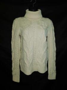 Balenciaga Paris Size 40 S Ivory White Wool Turtleneck Sweater Italy Made Knit