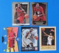 CHRIS BOSH BASKETBALL LOT OF 5 CARDS ~ PANINI SELECT PRIZM ELITE  FLEER EX