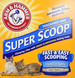 Arm and Hammer Super Scoop Clumping Litter Fragrance-Free 14lb Cat Baking Soda