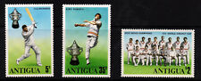 ANTIGUA 1975 World Cricket Cup Winners Set SG 466 to SG 468 MINT