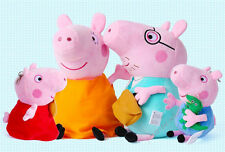 "4Pcs Peppa Pig Family Plush Doll Stuffed Toy 12"" DADDY MOMMY 8"" PEPPA gift"