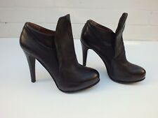 A.S 98 BOOTS STILETTO BOOTIES DISTRESSED LEATHER HIGH HEEL SHOES - 38