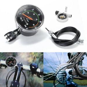 Odomètre mécanique analogique de compteur de vitesse de vélo de style vintage F1