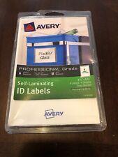 "Self-Laminating Id Labels 3.75""X5.75"" 4/Pkg - Avery Gray Border Brand New Open"