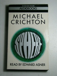 SPHERE by Michael Crichton Abridged Audiobook 1988 Read Edward Asner 2 Cassettes