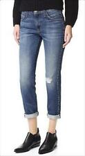 NWT Current Elliott The Fling Relaxed Fit Distroy Jeans in Whiskey w/ Studs 27