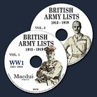 British Army Lists 1913-1919 incl. WW1 (1914-1918) E-book 65 Parts on 2 DVD PDF