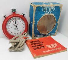 Heuer Trackmaster Vintage Stopwatch Red Working
