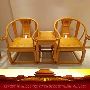 MingDy STL Solid wood Palace Chair Old-fashioned Wooden Armchair Tea table #1169
