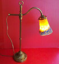 lampe art deco de bureau salon avec sa tulipe muller schneider degue