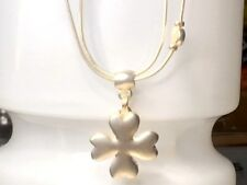"""MATT GOLD PLATED LUCKY FOUR LEAF CLOVER NECKLACE 18"""" chain IRISH GIFT FOR HER"""