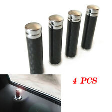 4PCS Real Carbon Fibre Universal Car Truck Interior Door Lock Knob Pull Pin Neat
