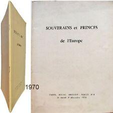Autographes documents historiques Rocha Carneiro 1970 Souverains princes Europe