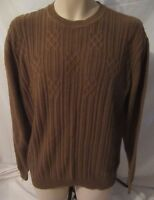 Crazy Horse Liz Claiborne Brown Crew Neck Sweater - Women's L - G169
