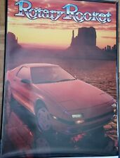 Poster Vintage Rotary Rocket FC3S RX7 Mazda  RX-7 Club of America