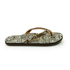 Animal® Swish Slim Upper AOP Women's Black Flip Flops Sandals Brand New on Sale