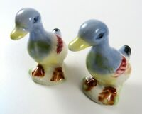 "Vintage Pair of Small Ceramic Duck Figurines, 3"" Tall"